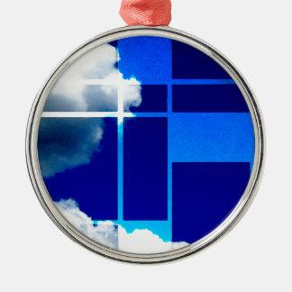 De Stijl Sky Metal Ornament