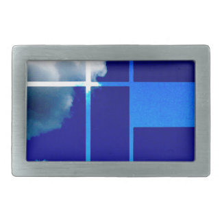 De Stijl Sky Rectangular Belt Buckle