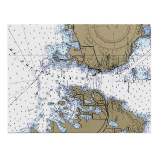 De Tour Passage Nautical Chart Postcard