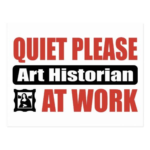 De tranquillité historien d'art svp au travail carte postale