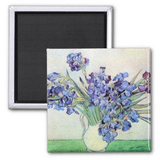De Van Gogh toujours la vie : Vase avec des iris,  Magnets Pour Réfrigérateur