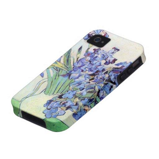 De Van Gogh toujours la vie : Vase avec des iris,  Coque iPhone 4