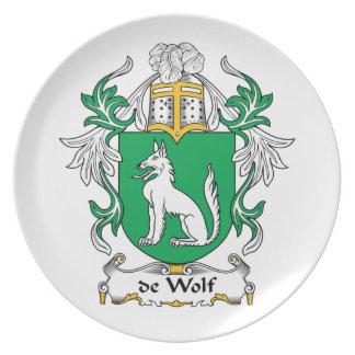 de Wolf Family Crest Plate