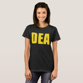 Dea Agent Funny Halloween Costume Navy Gold Vetera T-Shirt