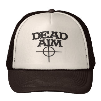dead aim with sight target mesh hat