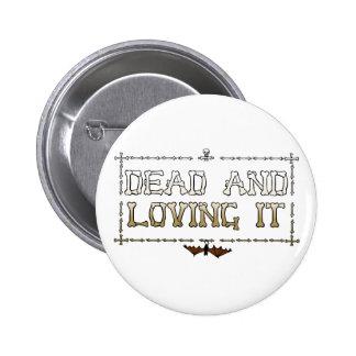Dead and Loving It : Bat Bones 2 Inch Round Button