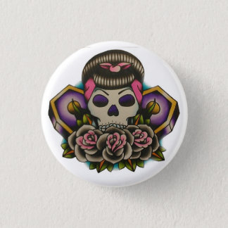 dead beauty 1 inch round button