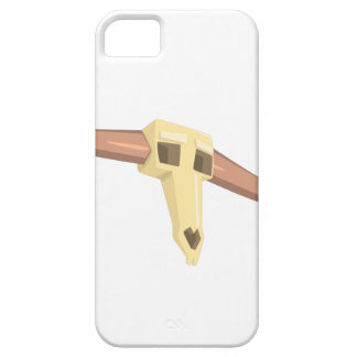 Dead Buffal Scull Drawing Isolated On White Backgr Case For The iPhone 5