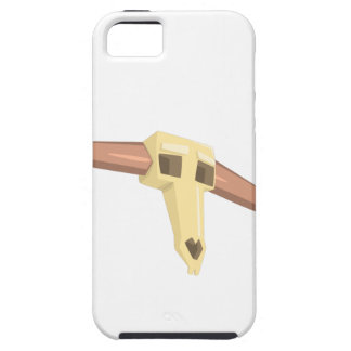 Dead Buffal Scull Drawing Isolated On White Backgr iPhone 5 Covers