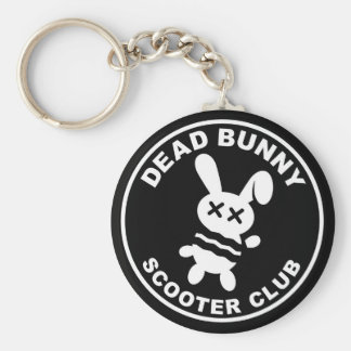 Dead Bunny Scooter Club Keychain