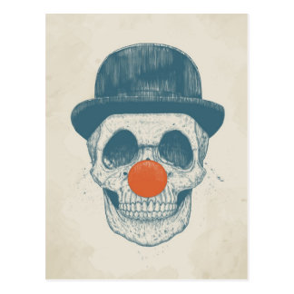 Dead clown postcard
