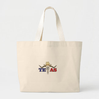 dead cowboy texas large tote bag