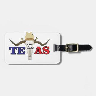 dead cowboy texas luggage tag