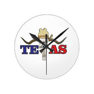 dead cowboy texas round clock