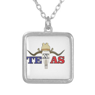 dead cowboy texas silver plated necklace