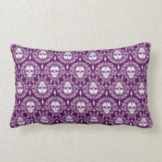 Dead Damask - Chic Sugar Skull Pattern Lumbar Pillow