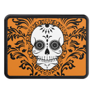 Dead Damask - Chic Sugar Skull Trailer Hitch Hitch Covers