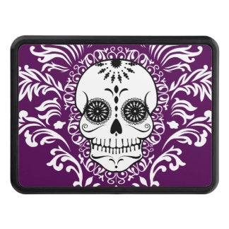 Dead Damask - Chic Sugar Skull Trailer Hitch Trailer Hitch Cover