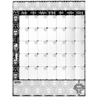 Dead Damask - Chic Sugar Skulls Calendar Board Dry-Erase Board