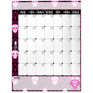 Dead Damask - Chic Sugar Skulls Calendar Board Dry Erase White Board