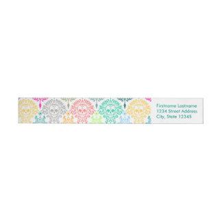 Dead Damask - Chic Sugar Skulls Custom Wrap Around Label