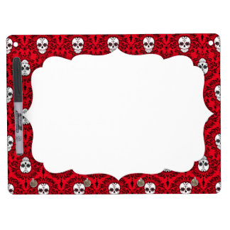 Dead Damask - Chic Sugar Skulls Dry Erase White Board