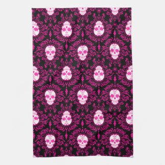 Dead Damask - Chic Sugar Skulls Kitchen Towel