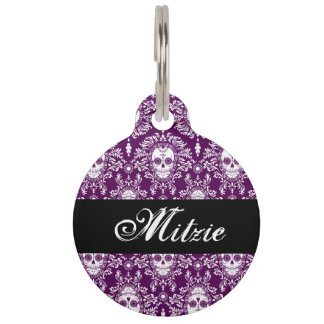 Dead Damask - Custom Pet Tag