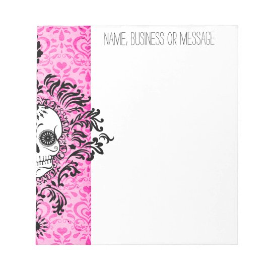 Dead Damask - Custom Sugar Skull Notepad