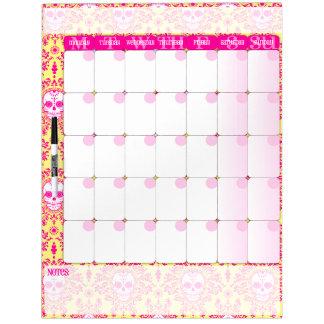 Dead Damask - Dry Erase Calendar Board Dry Erase Board