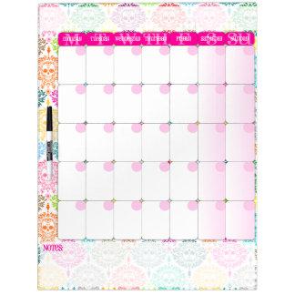 Dead Damask - Dry Erase Calendar Board Dry-Erase Boards