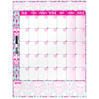 Dead Damask - Dry Erase Calendar Board Dry-Erase Whiteboards