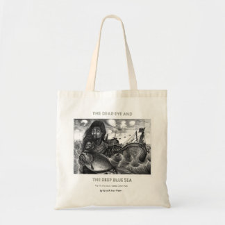 Dead Eye Tote Bag with Vannak Holding a Large Fish