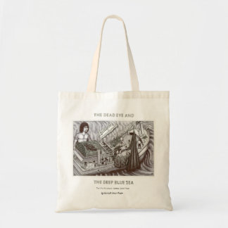 Dead Eye Tote Bag with Vannak Standing Above Boat