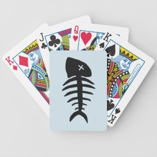dead fish skeleton bicycle playing cards