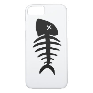 dead fish skeleton Case-Mate iPhone case