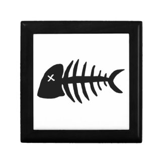 dead fish skeleton gift box