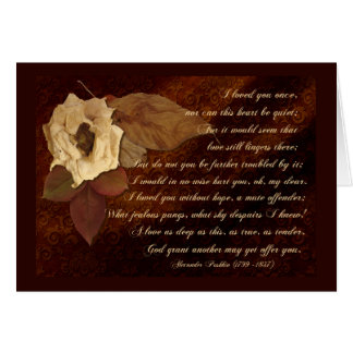Dead Flowers for a Past Love Card