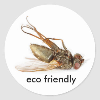 Dead fly - eco friendly round sticker