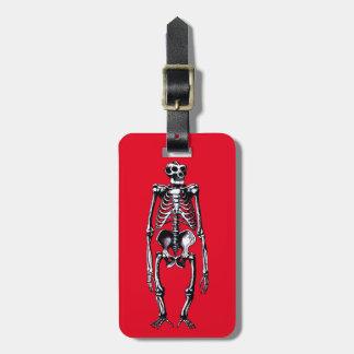 dead gorilla skeleton bag tag