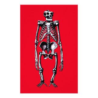 dead gorilla skeleton stationery