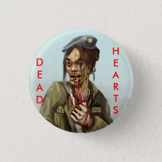 Dead Hearts Novels Zombie Girl 1 Inch Round Button