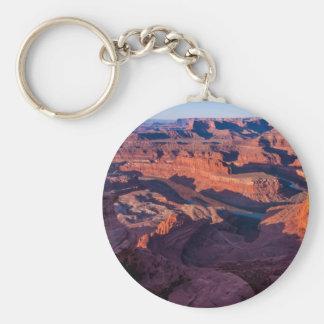 Dead Horse Point Sunrise - Moab, Utah Basic Round Button Keychain