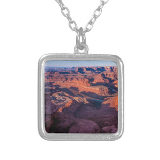 Dead Horse Point Sunrise - Moab, Utah Silver Plated Necklace