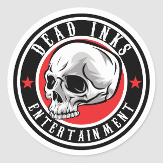 Dead Inks Stickers! Classic Round Sticker