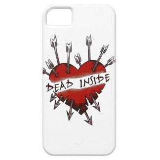 Dead Inside pierced heart iPhone 5 Cases