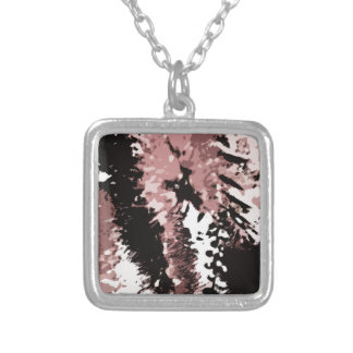 Dead leaves #2 silver plated necklace