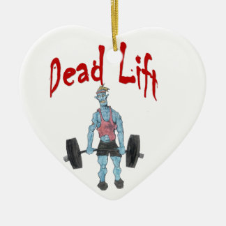 Dead Lift Ceramic Heart Ornament