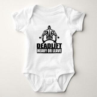dead lift heavy or leave baby bodysuit