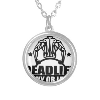 dead lift heavy or leave silver plated necklace